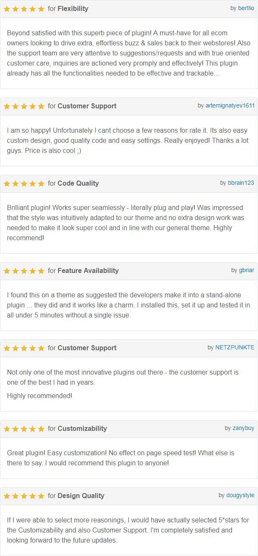 Buy For Me Plugin - Customer Reviews 1