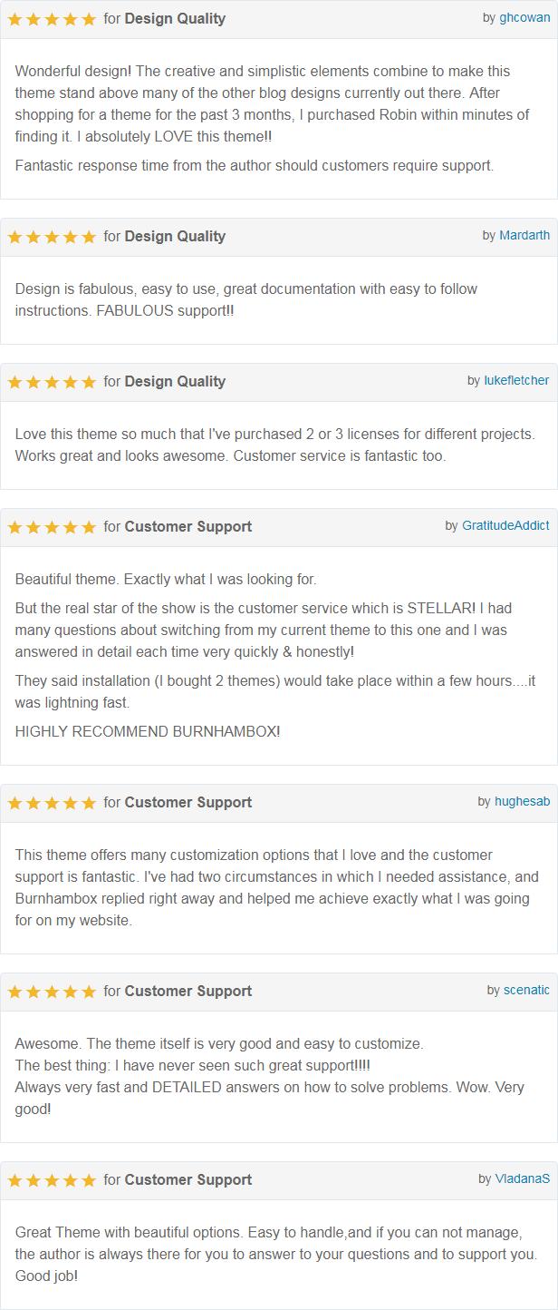 Robin Customer Reviews